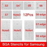 12 шт./лот микросхема BGA реболлинг трафарет Наборы Набор для пайки шаблон samsung Galaxy S3 S4 S5 S6 S7 S8 NOTE3/4/5/6 высокое качество