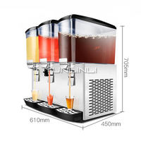 17L*3 Commercial Beverage Machine Three tank Large Capacity Beverage Dispenser Cold&Heat Drinks Dispenser GZJ 351