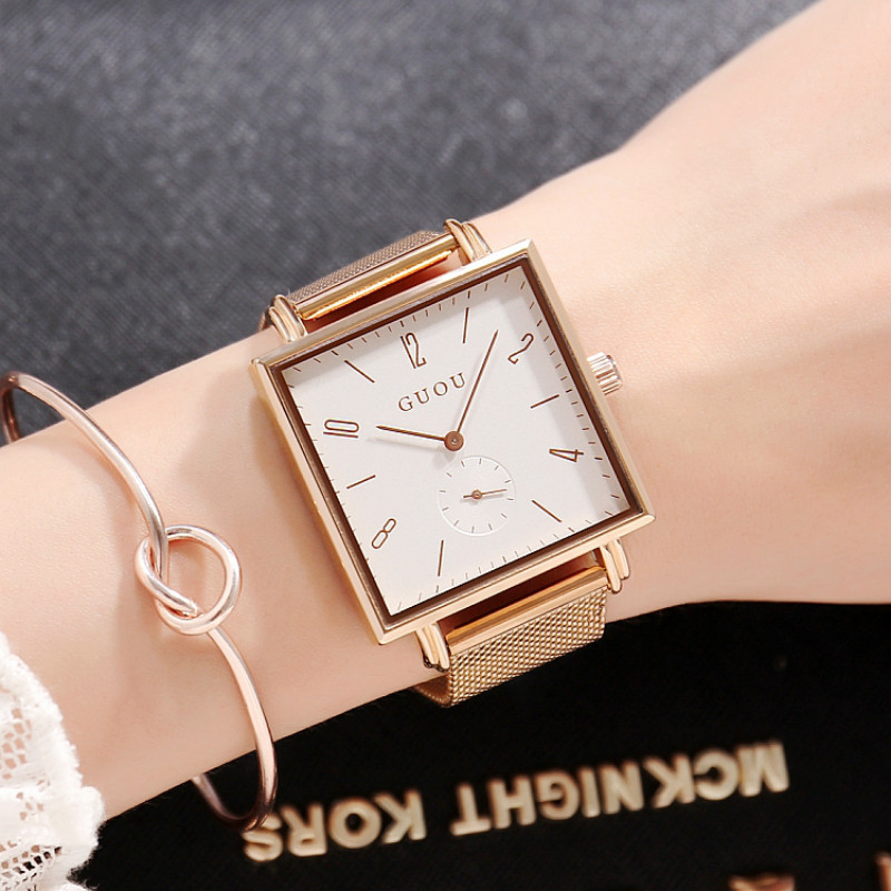New Super Slim Gold Mesh Stainless Steel Watches Women Top Brand Luxury Casual Clock Woman Wrist Watch Lady Relogio Feminino