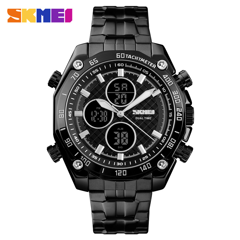 <font><b>SKMEI</b></font> Mens Watches Top Brand Luxury Quartz Wrist Watch Men Fashion Waterproof Chronograph Multifunction Military Sports Watches image