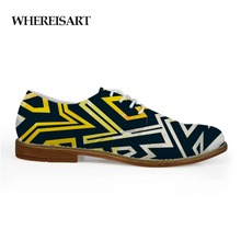 WHEREISART New Simple Design Oxford Shoes for Men Leather Summer Leopard  Flat Graffiti Studnets abstract