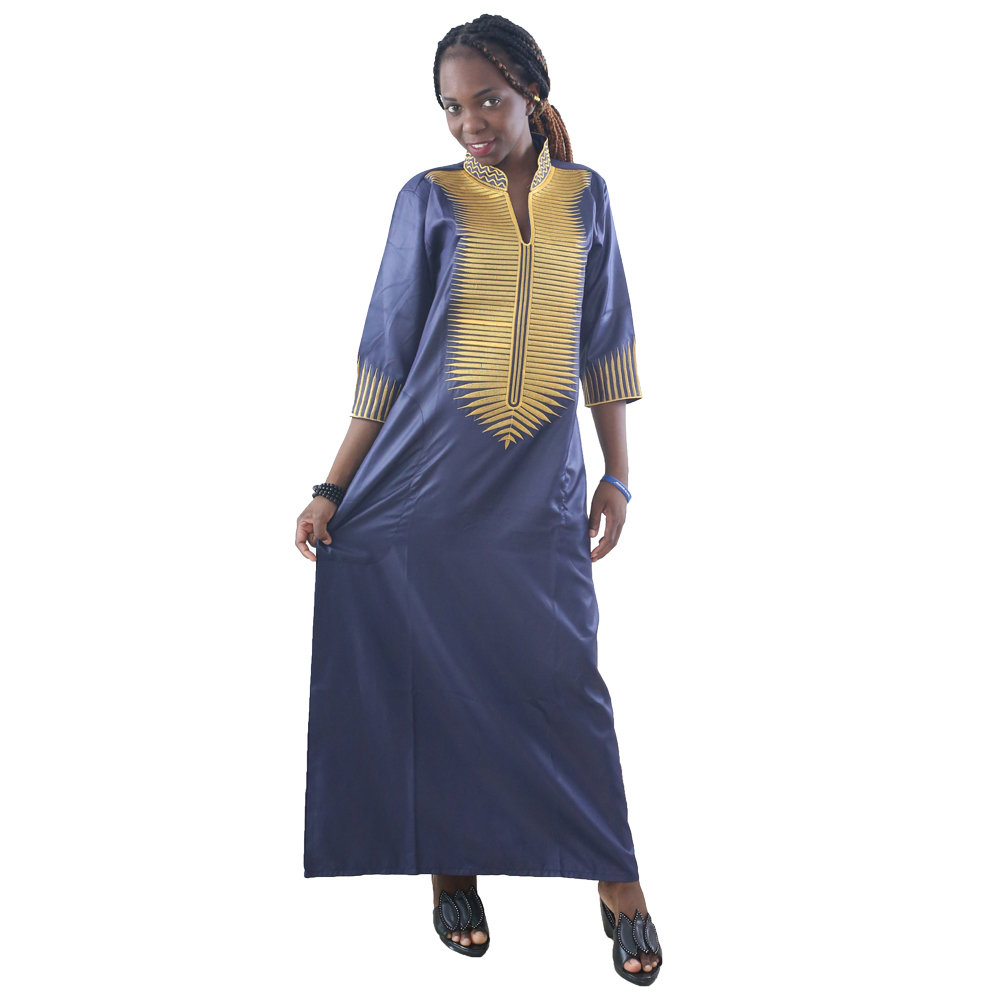 MD 2019 African Dresses For Women Dashiki Dresses Women Maxi Dress African Embroidered Dresses South African Traditional Wear