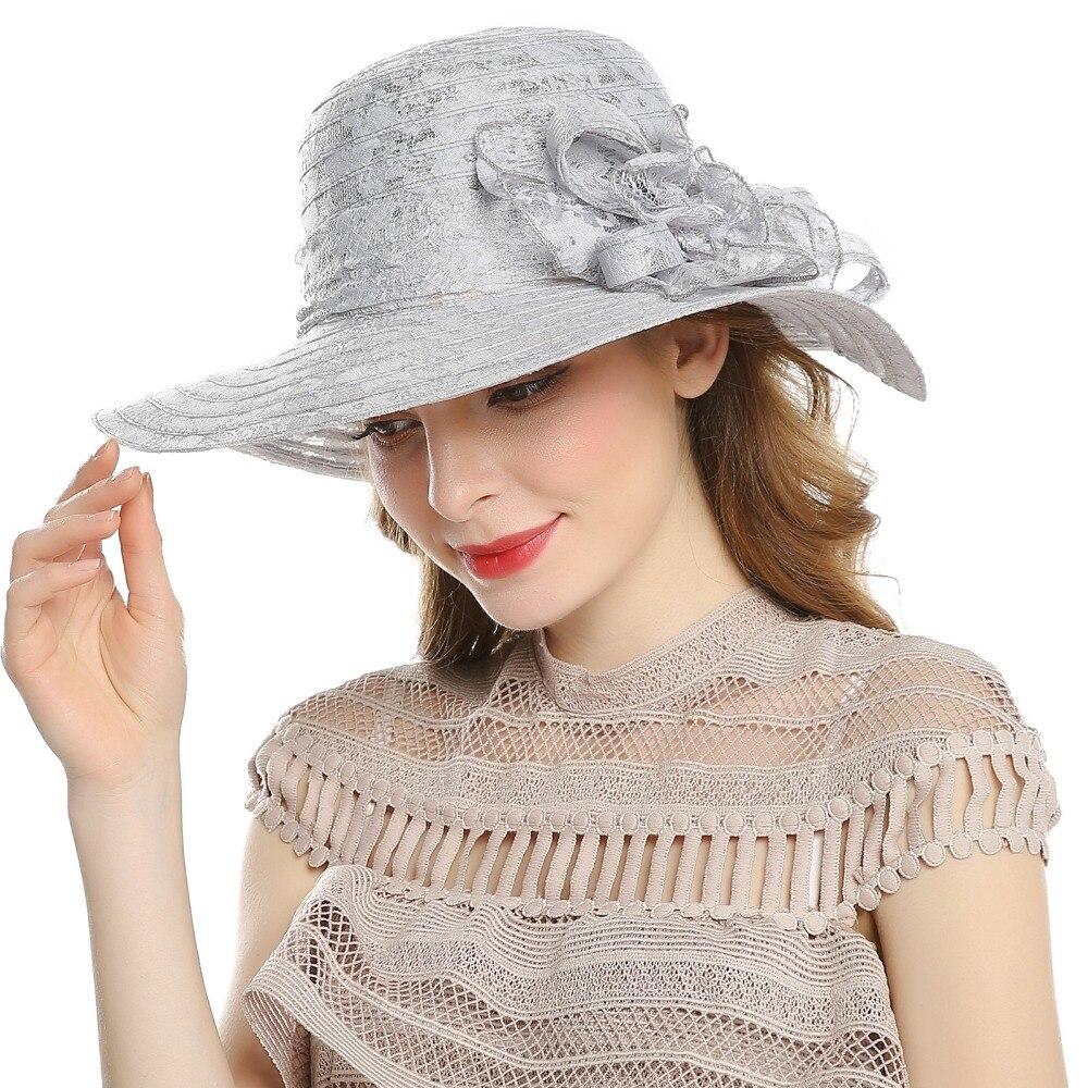 Comprar Gorra de Sol de verano de WELROG para mujeres al aire libre Casual  sombrero de playa de encaje flor sombreros de vacaciones señoras de ala  ancha ... 604cee3ee21