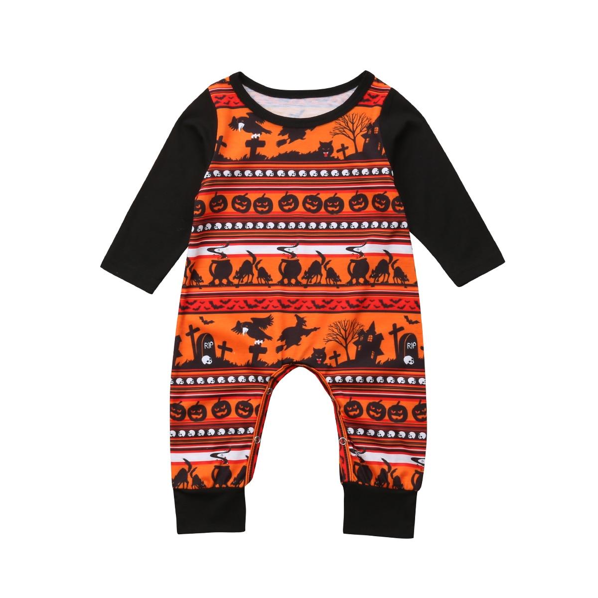 First Halloween Spider Set Newborn Baby Boys Girls Romper Jumpsuit Pants Outfits