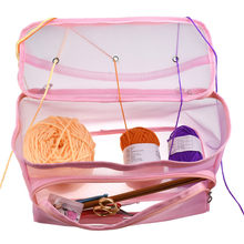 DIY Hand Knitted Tool / Crochet Line Storage Bag Portable Tote Storage Case Knitting Needles Sewing Yarn Sewing Accessories(China)