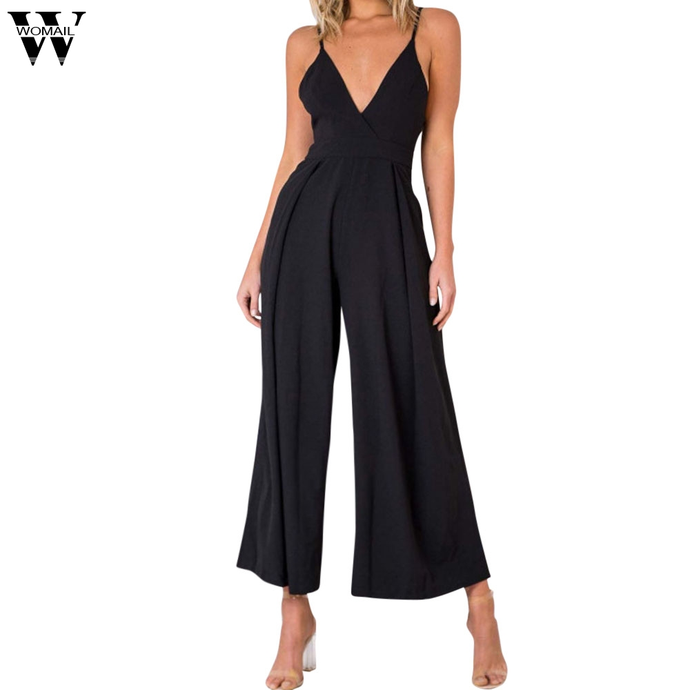 Womail bodysuit Women Summer Fashion Boho V Neck Backless Jumpsuit Clubwear Bodycon Playsuit Romper Casual NEW M7
