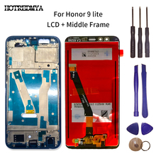 LCD Display For Huawei Honor 9 Lite LCD Display Touch Screen Digitizer STF L09 LLD L31 With Frame Touch Screen Assembly+Tools for huawei u9508 honor 2 lcd screen display with black touch screen digitizer frame assembly by free shipping 100% warranty