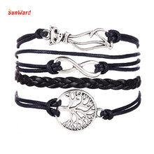Cat / Tree-shaped multilayered bracelet