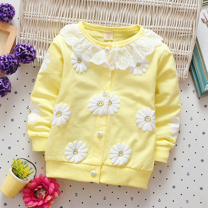 BibiCola newborn baby girls floral lace outerwear coat clothes spring autumn 0-2Y new infant toddler cute warm jackets coats