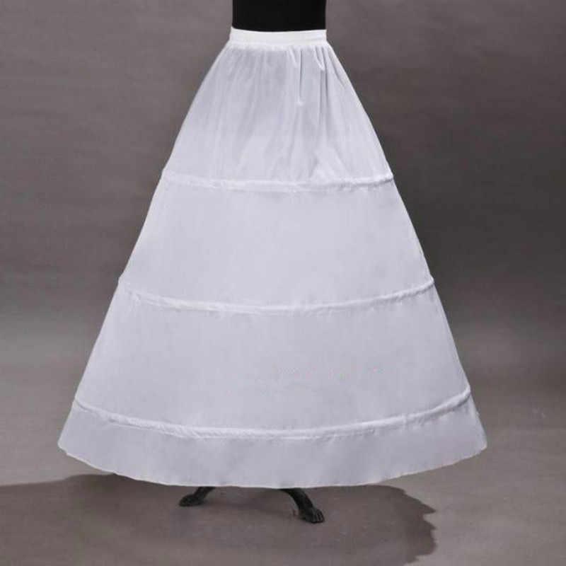 Petticoat Wedding Vintage dengan 3 Ring Bola Gaun Petticoat untuk Vintage Pikuk Aupport Akirt Hoop Skirt 2020