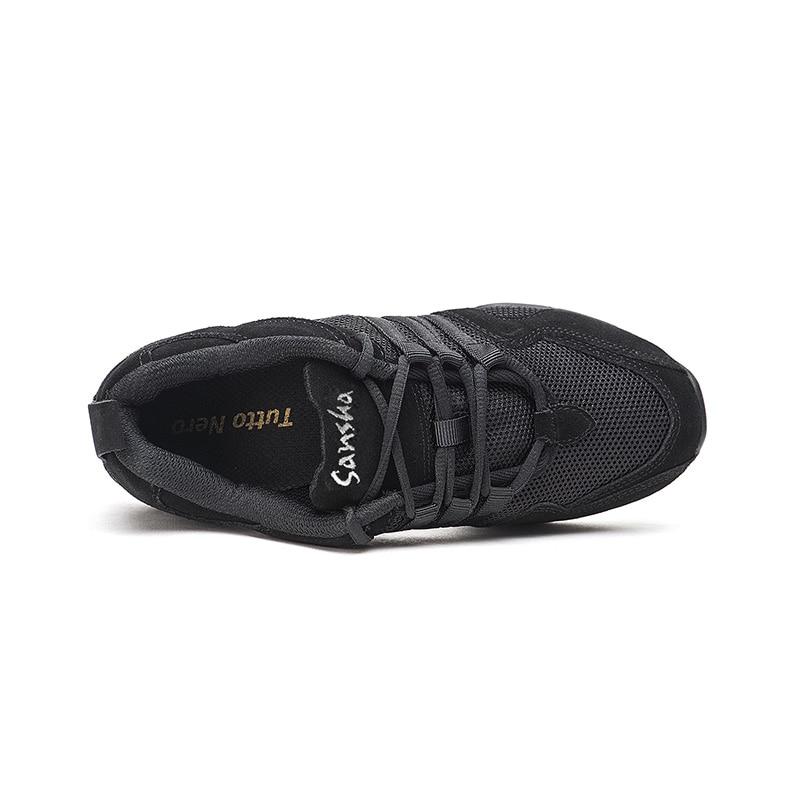 Image 3 - Sansha Unisex Dance Sneakers Leather Mesh Upper Thick PU Split soles Black Pro Modern Dance Jazz Shoe Air Cushion Sole  P22LS-in Dance shoes from Sports & Entertainment