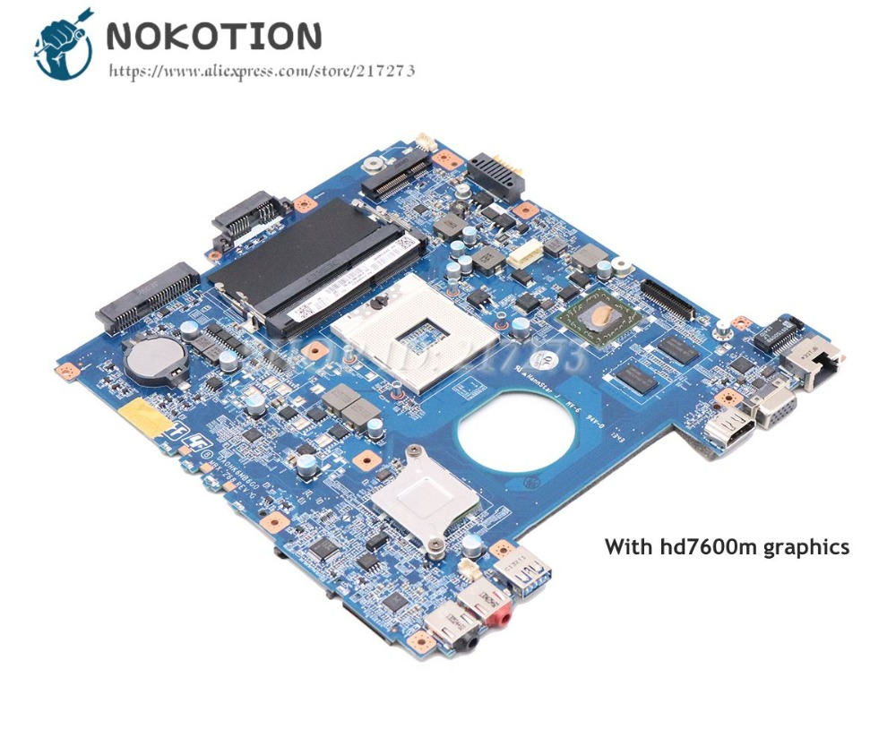 NOKOTION MBX-268 MAIN BOARD For Sony Vaio SVE14 Laptop Motherboard HD7600M DDR3 A1893196A A1893197A  A1876092A DA0HK6MB6G0NOKOTION MBX-268 MAIN BOARD For Sony Vaio SVE14 Laptop Motherboard HD7600M DDR3 A1893196A A1893197A  A1876092A DA0HK6MB6G0