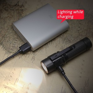 Image 4 - 道路上U18 (nobattery) タイプc usb directcharge led懐中電灯18650充電式懐中電灯戦術的なミニトーチ超高輝度