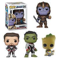 MARVEL Avengers 4 Endgame Hulk bébé Groots Tony Stark Iron Man Thanos figurines à collectionner modèle jouets pour enfants