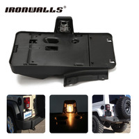 Ironwalls Car Styling Rear License Plate Tag Holder Bracket Mounts w/ Amber Light For 2007 2016 Jeep Wrangler JK Unlimited Auto