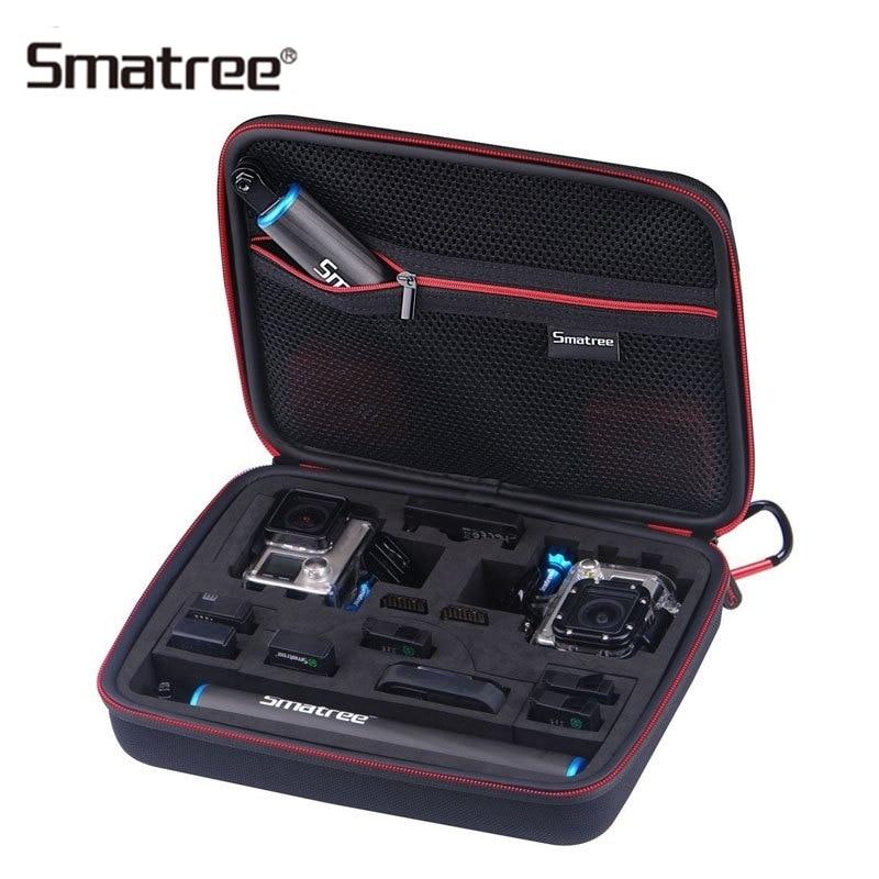 Smatree Carrying Case For Gopro Hero 6/5/4/3+/3/2/1/SJCAM sj4000/Xiaomi Yi G260SL 2 Gopro Cameras Accessories Bag