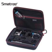 Smatree taşıma çantası Gopro Hero için 7/6/5/4/3 +/3/2 /1/SJCAM sj4000/Xiaomi Yi G260SL 2 Gopro kameralar aksesuarları çantası