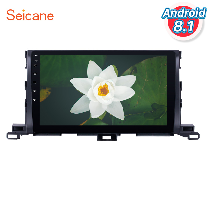 "Seicane 2Din Android 8.1 10.1"" Car Radio Audio Stereo GPS Wifi Quad Core Multimedia Player For 2015 Toyota Highlander Head Unit"