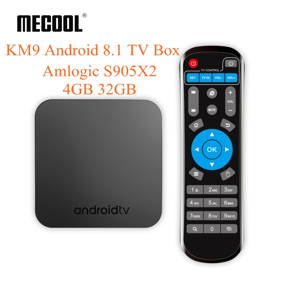 Mecool KM9 Android 9.0 TV Box Amlogic S905 X2 4GB DDR4 32GB 2.4G/5G Dual WiFi USB3.0 BT4.1 Support 4K H.265 Smart Media Player-in Set-top Boxes from Consumer Electronics    1