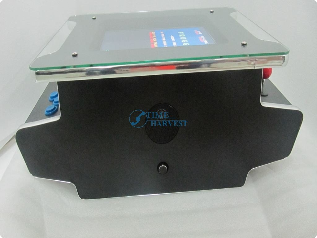 15 inch LCD Table Cocktail Machine With Classical games 60 in 1 Game PCB and With Long shaft joystick and American Round button