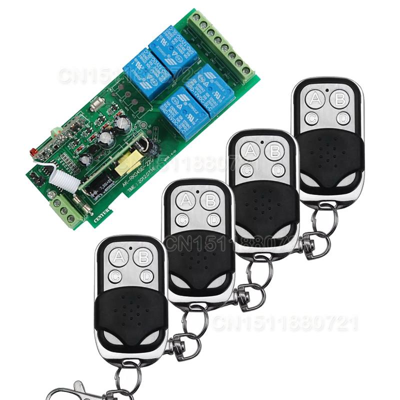 Casa inteligente 85 v ~ 250 V 110 V 220 V 4CH RF Interruptor de Relé de Control