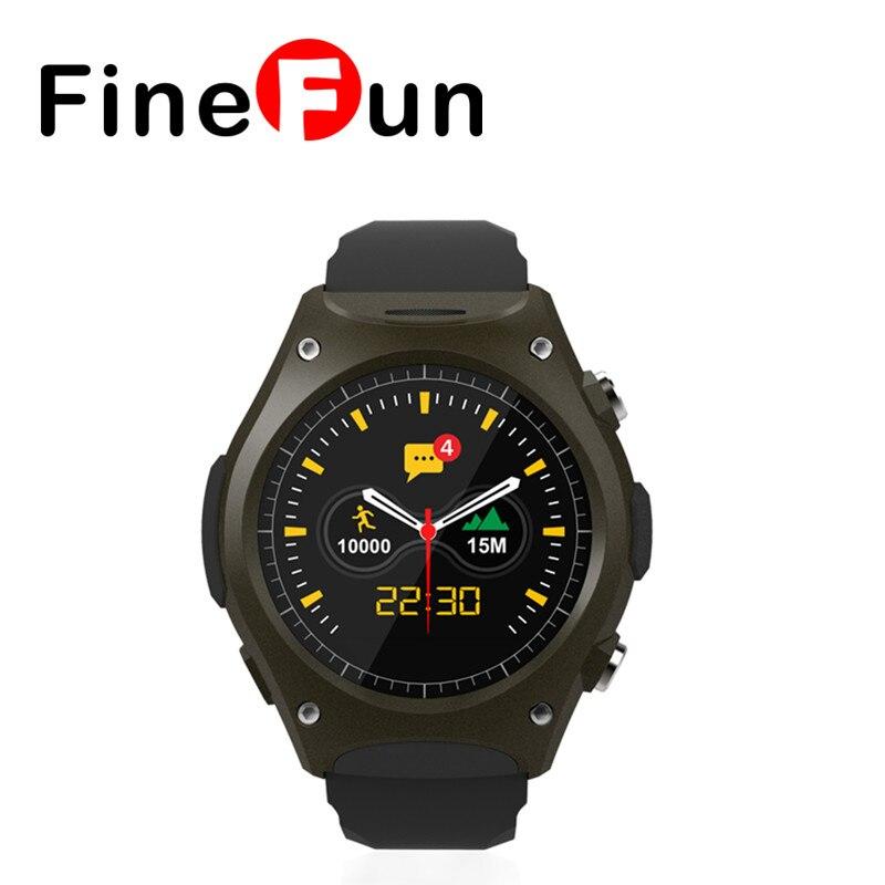 FineFun Newest smart watch Q8 Waterproof IP57 Sport wrist watch MT2502 With Bluetooth G-sensor Heart Rate Compass Free Shipping