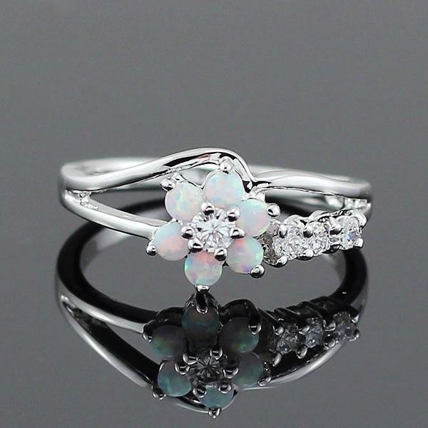 Ring silber 925 schmuck geschenk für frau Opal schmuck edelstahl schatz ringen halloween Engel Ring König B1385