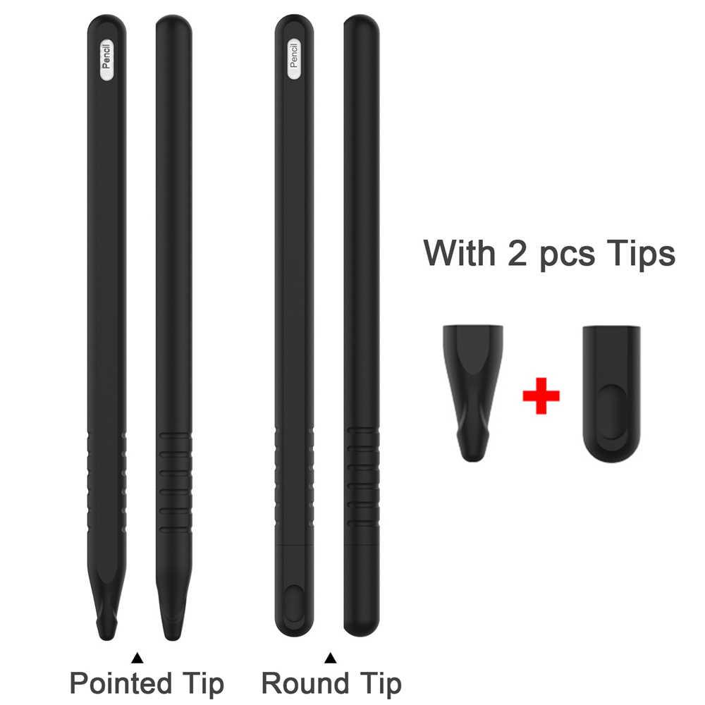 Ốp Lưng silicon cho Apple Pencil 2nd Bảo Vệ cho iPencil 2 Tay Cầm Ốp Da Giá Đỡ cho iPad Pro Cảm Ứng Kiêm Bút Ký phụ kiện