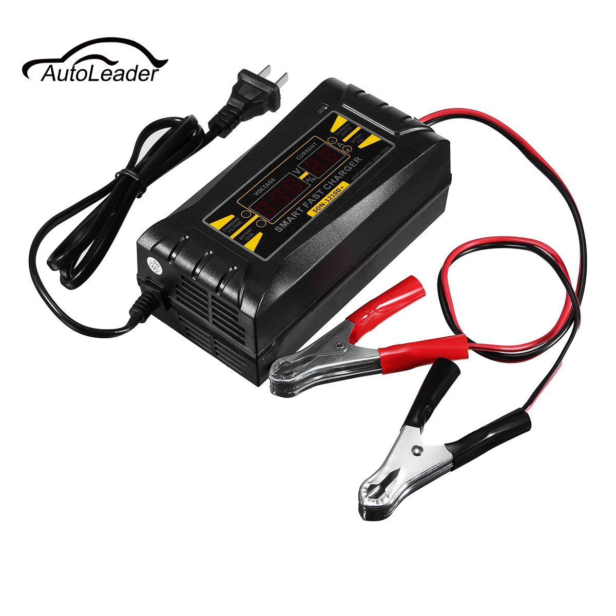 SON-1210D+ LCD Smart Fast Lead-acid Battery Charger 12V 10A For Car Motorcycle 12v lead acid battery tester led for car motorcycle gary