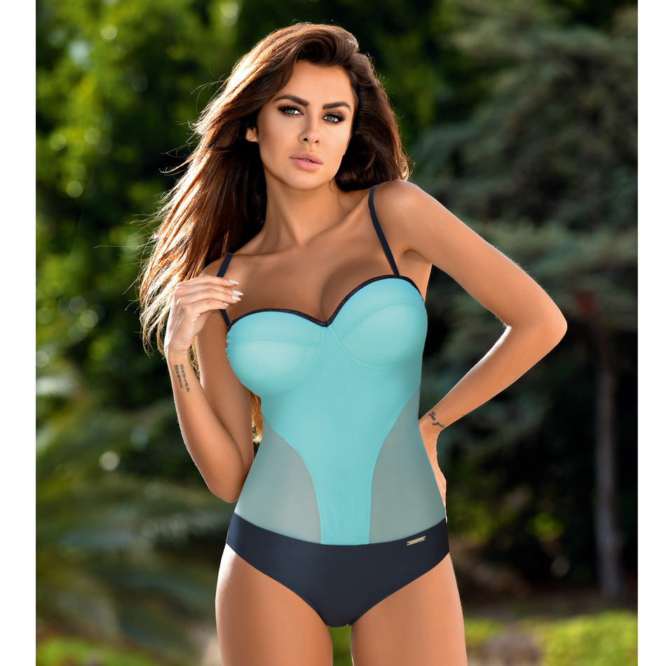 Push Up One Piece Plus Size Swimsuit Women Swimwear Bodysuit Sexy Padded Bathing Suit Female Beachwear Patchwork Swimming Suit