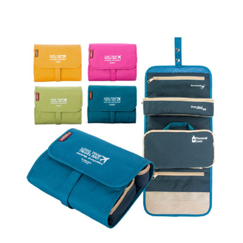 Casual Hanging Waterproof Travel Toiletry Wash Makeup Storage Cosmetic Organizer makeup Bag