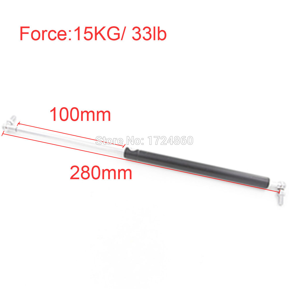 free shipping Auto Gas Spring Damper 100mm Stroke 15Kg 33lb Force Ball Gas Strut Shock Spring Lift Prop Automotive M8 Hole free shipping car auto 50kg 110 lbs force ball studs lift strut metal gas spring 500mm 200mm