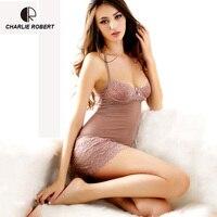 2015 Pajama Core Sexy Sleepwear Female Temptation Transparent Women S Summer Lace Nightgown Spaghetti Strap Belt