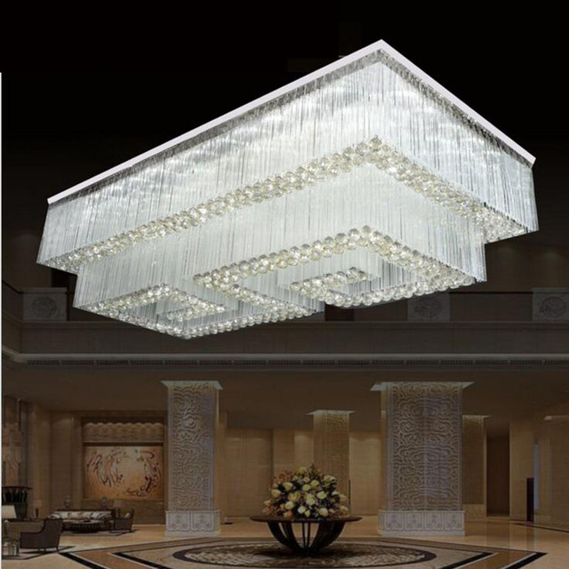 Crystal chandeliers villas clubs works lights living room ceiling crystal chandeliers villas clubs works lights living room ceiling lamps rectangular crystal lamps lanterns led lighting aloadofball Image collections