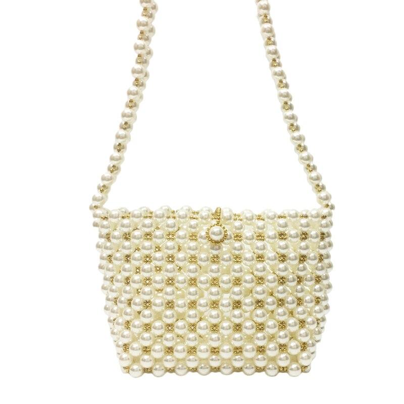 2019 nouvelle corée du sud ins niche design à la main sac perlé tissé sac perle sac épaule Messenger sac femme