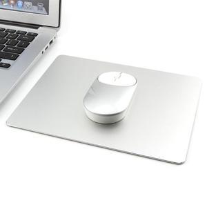 Alfombrillas grandes de Metal y aluminio de 219X174mm para juegos, alfombrillas para el ratón, alfombrillas de oficina plateadas para ordenador portátil, alfombrillas para Apple MackBook Pro