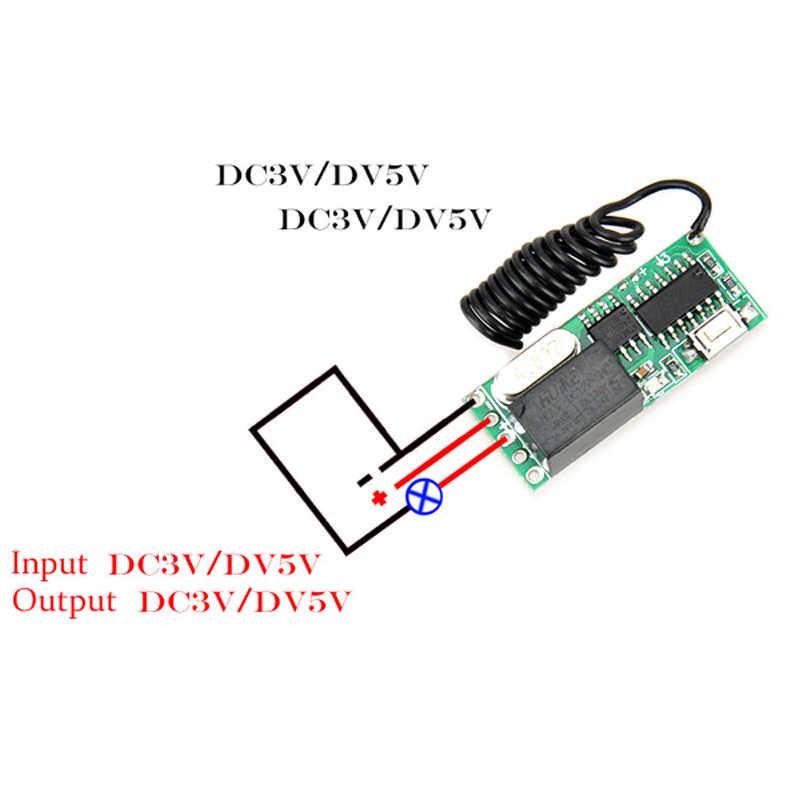 DC3V 3.7 V 4.2 V 5 V 12 V 2A przekaźnik Mini przełącznik zdalny tylko Rx o inteligentnego domu Broadlink RF app bezprzewodowy przełącznik nie ma COM NC skontaktuj się z