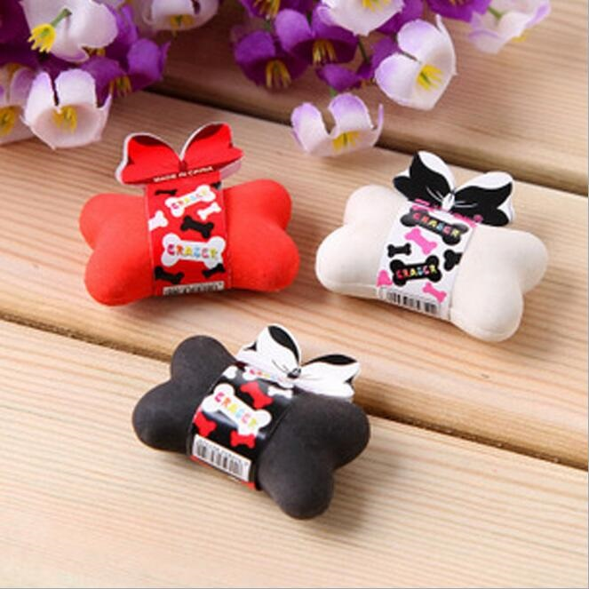 3pcs/lot Kawaii Bone Design Eraser Funny Students' Gift Kids's Puzzle Toy Office School Stationery Supplies