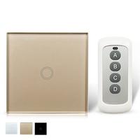 EU Remote Control Switch 1 Gang 1 Way RF 433Mhz Smart Switch Home Wall Wireless Remote