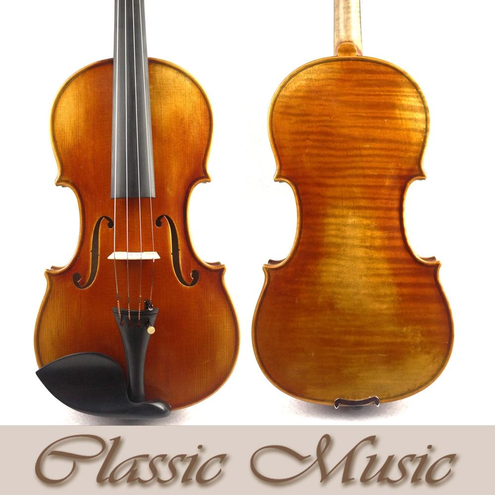 Powerful sound,Antique style Varnish,No1284.Stradivarius 1715 Cremonese Copy Master Violin,European Spruce master violin identity copy guarneri del gesuthe cannon1743 strong and deep tone free shipping aubert bridge no 3