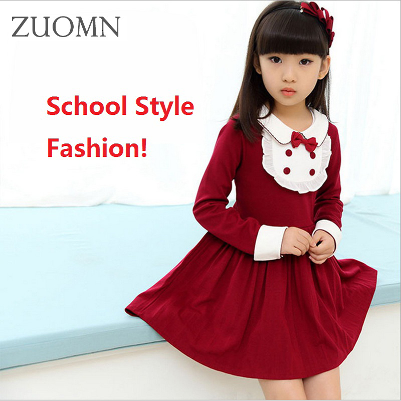 Children Girls School Style Dress Kids Clothes Teenage Daughter Dresses New Year Long Sleeve Winter Baby Family Clothing YL268 winter girl dress fashion velvet girls mini dresses girls long sleeve children girls dresses daughter dresses