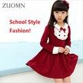 Crianças Escola Estilo Meninas Vestem a Roupa Dos Miúdos Filha Adolescente Vestidos de Ano Novo Roupas Da Família Do Bebê de Manga Longa de Inverno YL268