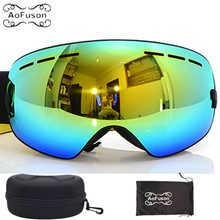 Genuine brand Benice Skiing glasses double lens big spherical winter snow snowboard anti fog ski goggles gafas with original box