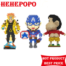2017 Time-limited Boys Plastic New Educational Bricks Toy Funny Cartoon Figures Mini For Nanoblock For Both Adults And Children