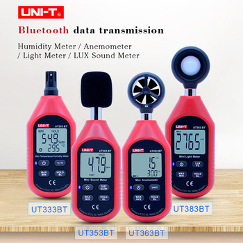 UT333BT Digital humidity meter UT363BT Mini Anemometer UT383BT illuminometer  UT353BT Digital sound meter /Bluetooth connection tenmars tm 401 handheld digital multifunctional anemometer air velocity meter