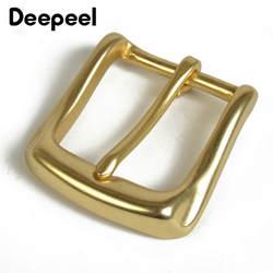 Deepeel твердая латунная пряжка для ремня для мужчин женщин металлическая пряжка для ремня 36-37 мм Сделай Сам кожевенное ремесло джинсы