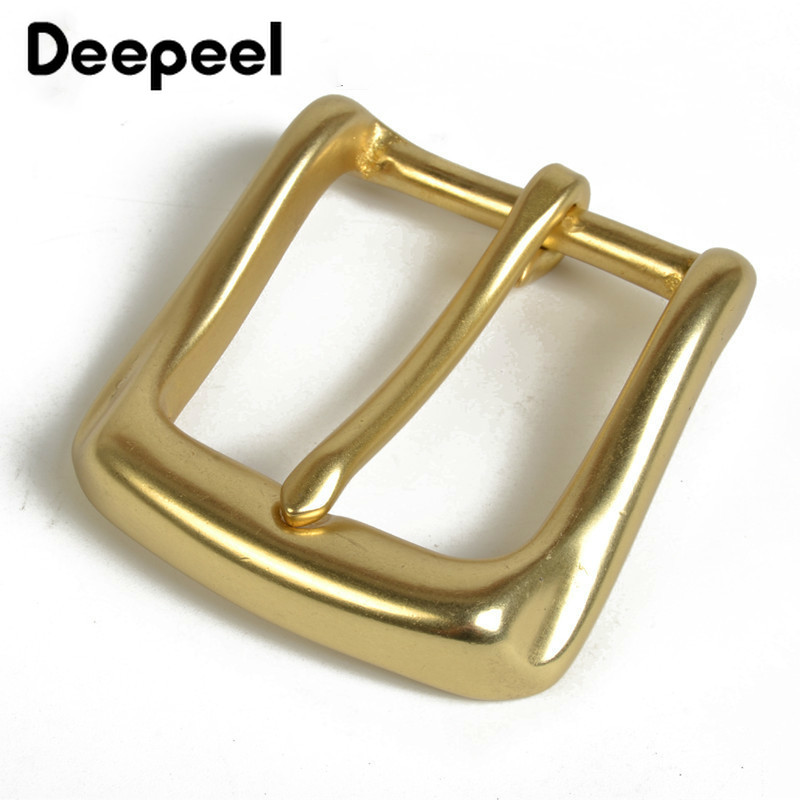 Deepeel Solid Brass Belt Buckle For Men Women Metal Pin Buckle Head For Belt 36-37mm DIY Leather Craft Jeans Accessories YK130