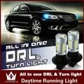 Диан гуан Автомобильные светодиодные Дневные Ходовые Огни Поворотников для Toyota Camry Corolla REIZ Prius Highlander Prado T20 WY21W 7440