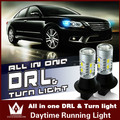 Guang Dian Carro levou luz de Circulação Diurna Luzes de Piscas para Toyota Camry Corolla REIZ Highlander Prado Prius T20 WY21W 7440