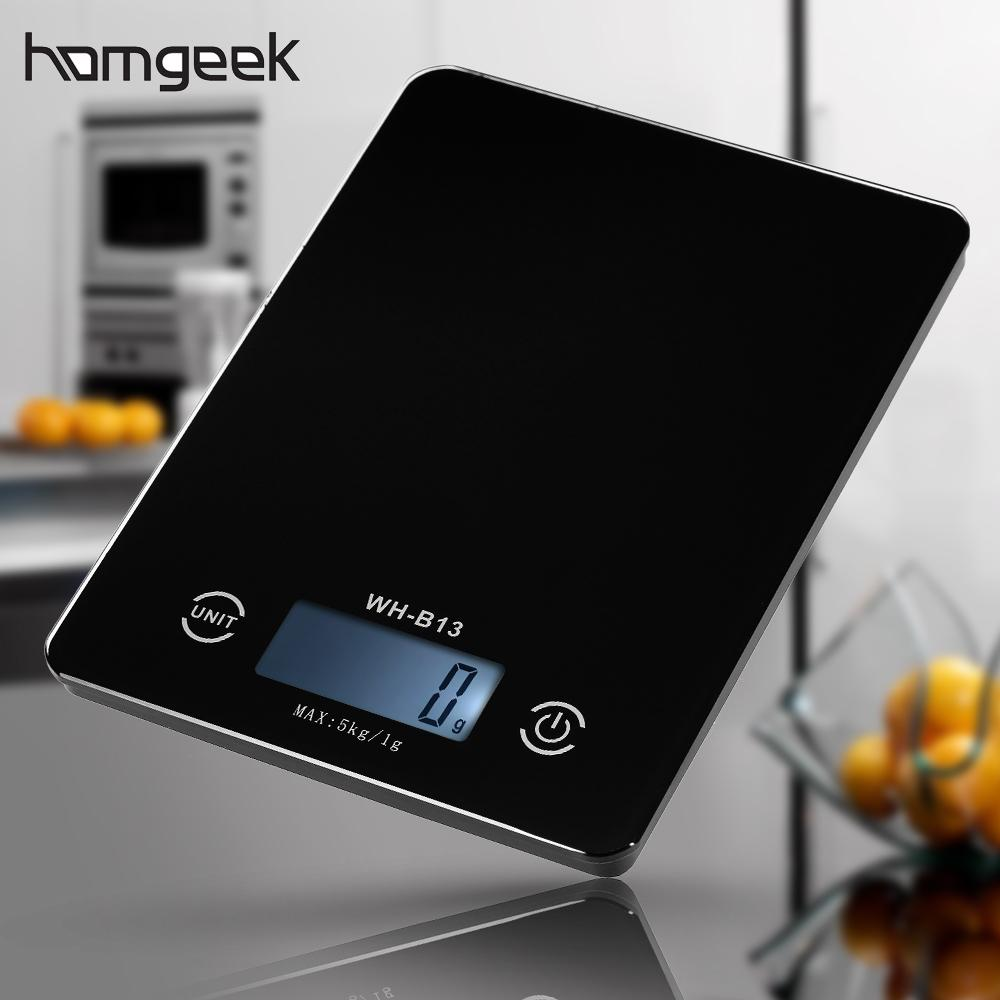homgeek Digital Kitchen Food Scale Electronic Cooking